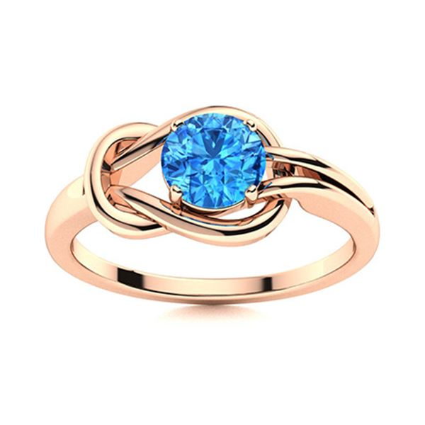 Natural 0.42 CTW Topaz Solitaire Ring 18K Rose Gold
