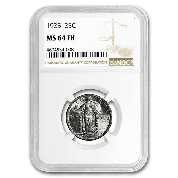 1925 Standing Liberty Quarter MS-64 NGC (FH)
