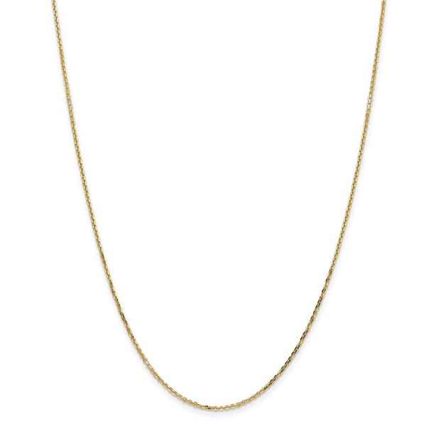 14k Yellow Gold 1.40 mm Diamond Cut Cable Chain - 26 in.