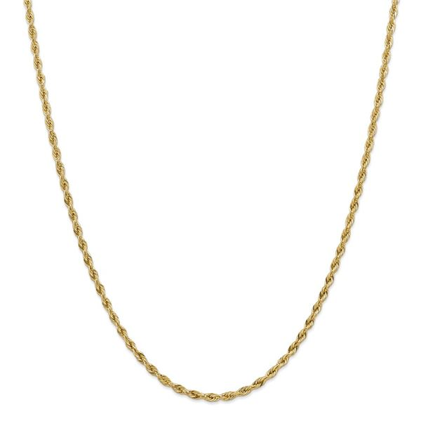 14k Yellow Goldy 3.0 mm Semi-Solid Rope Chain - 26 in.