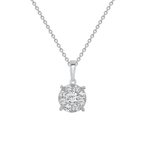 Natural 0.62 CTW Frost Yourself Diamond Necklace 18KT White Gold
