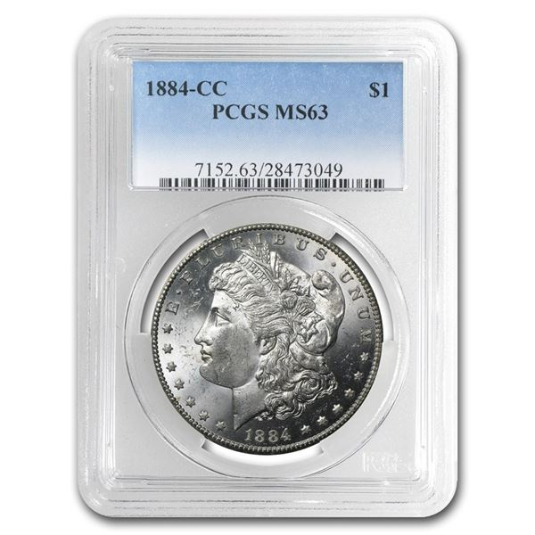 1884-CC Morgan Dollar MS-63 PCGS