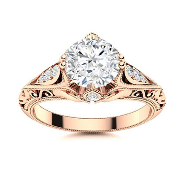 Natural 1.83 CTW Topaz & Diamond Engagement Ring 14K Rose Gold