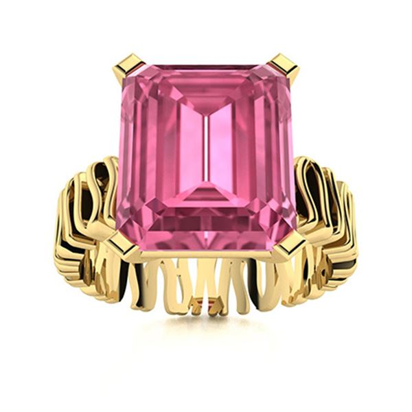 Natural 1.99 CTW Tourmaline Solitaire Ring 14K Yellow Gold