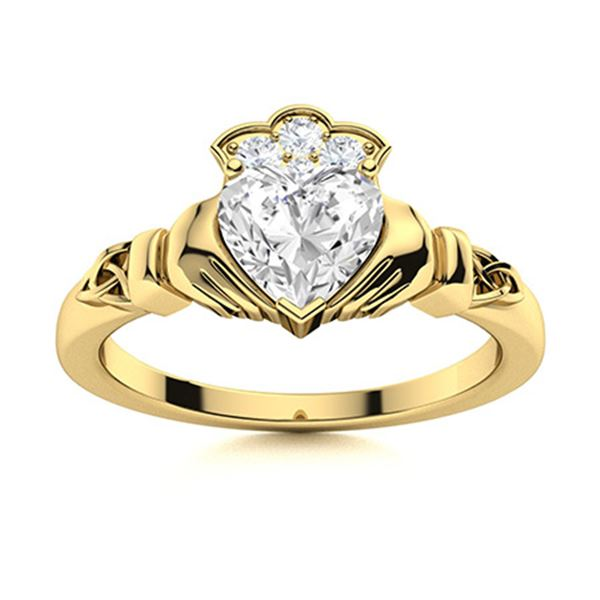 Natural 1.59 CTW Diamond Solitaire Ring 14K Yellow Gold