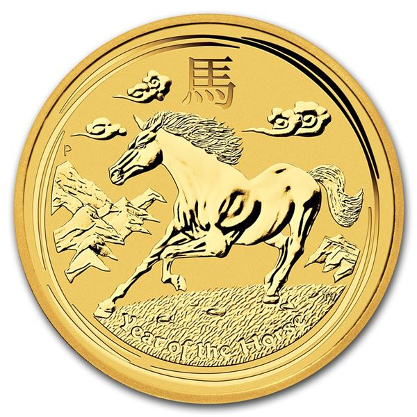 2014 Australia 1/2 oz Gold Lunar Horse BU (Series II)
