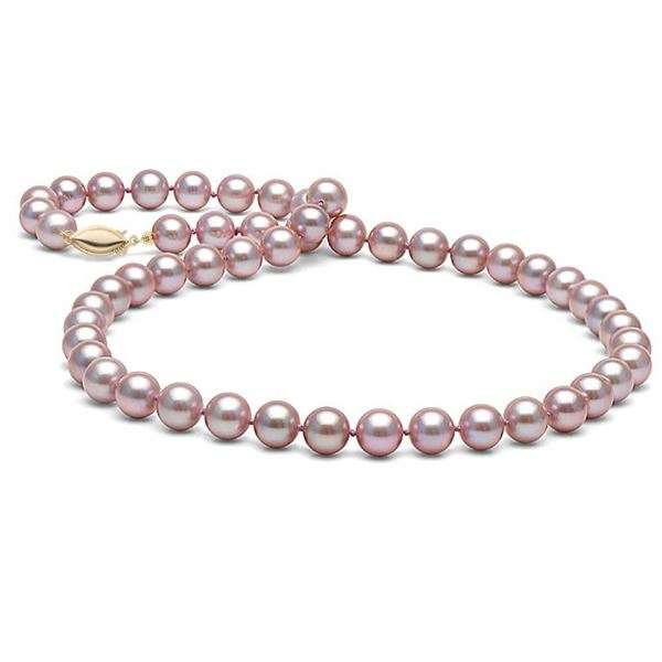 Lavender Elite Collection Pearl Necklace, 7.5-8.0mm