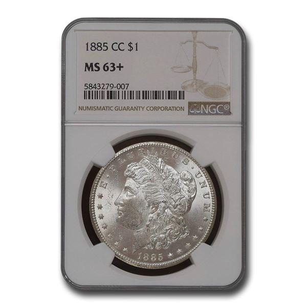 1885-CC Morgan Dollar MS-63+ NGC