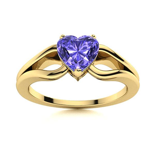 Natural 1.55 CTW Tanzanite Solitaire Ring 14K Yellow Gold