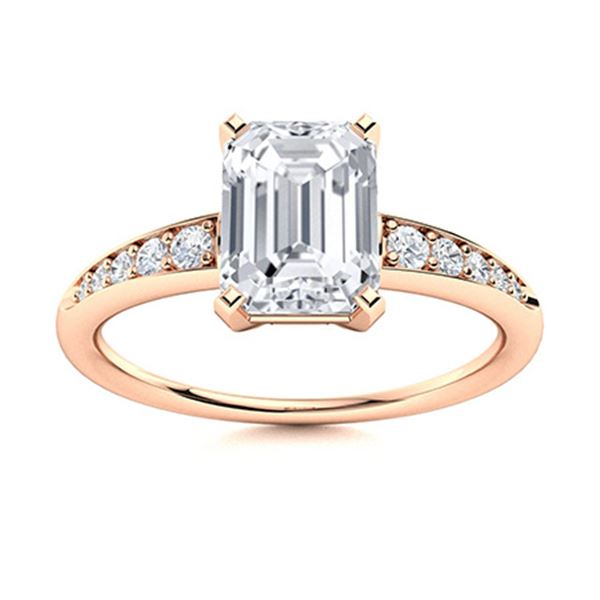 Natural 1.89 CTW Diamond Solitaire Ring 14K Rose Gold