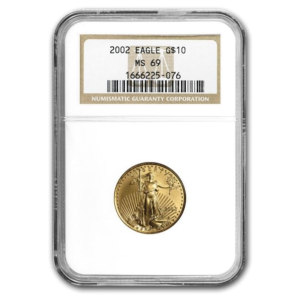 2002 1/4 oz Gold American Eagle MS-69 NGC