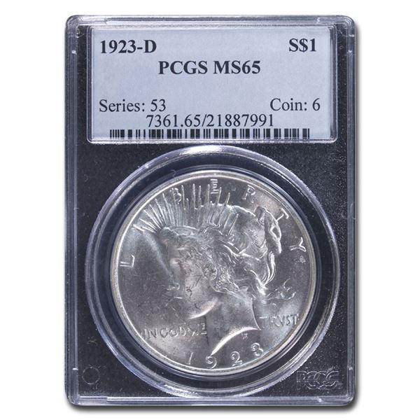 1923-D Peace Dollar MS-65 PCGS