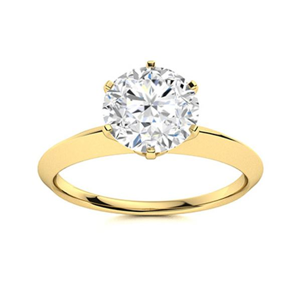 Natural 1.86 CTW Diamond Solitaire Ring 14K Yellow Gold