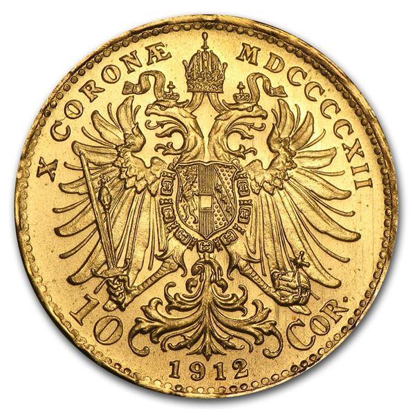 1912 Austria Gold 10 Coronas AU (Restrikes)