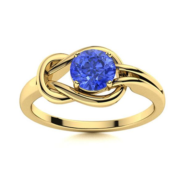 Natural 1.62 CTW Ceylon Sapphire Solitaire Ring 18K Yellow Gold