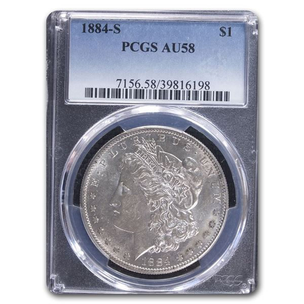 1884-S Morgan Dollar AU-58 PCGS