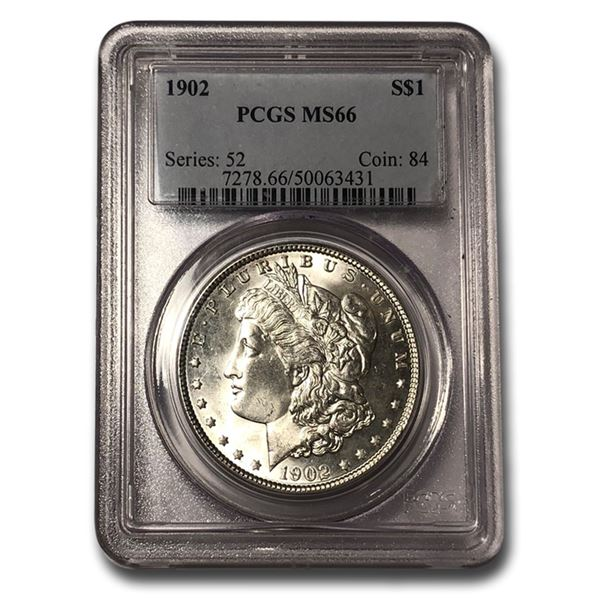 1902 Morgan Dollar MS-66 PCGS