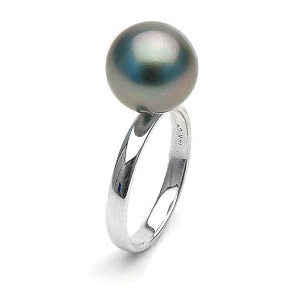 Black Tahitian Pearl Classic Solitaire Ring