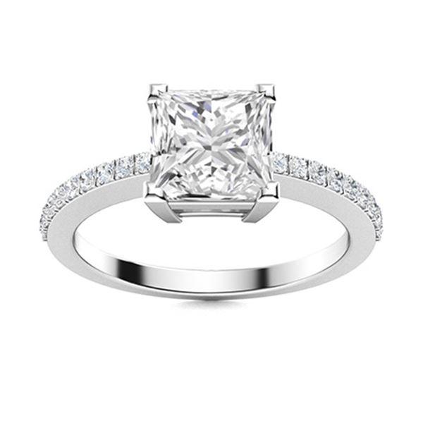 Natural 0.98 CTW Topaz & Diamond  Engagement Ring 14K White Gold