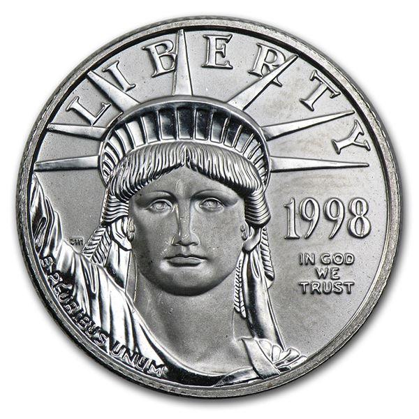 1998 1/4 oz Platinum American Eagle BU