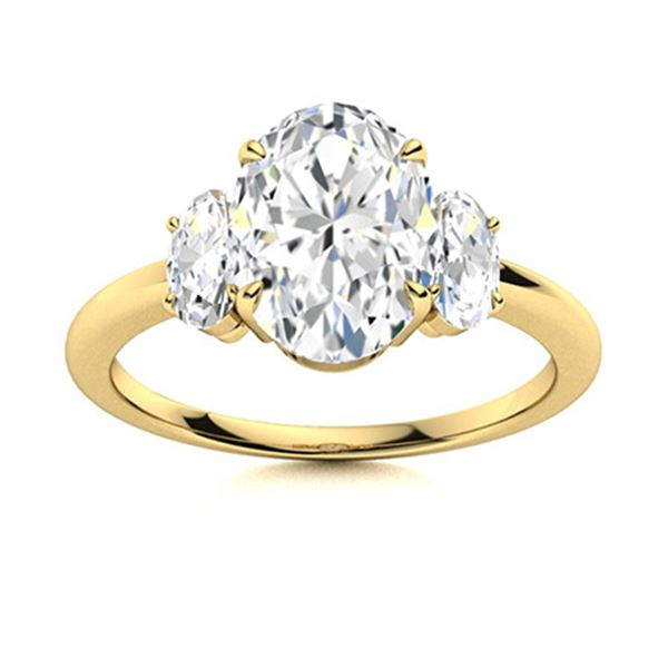 Natural 1.76 CTW Diamond Solitaire Ring 14K Yellow Gold