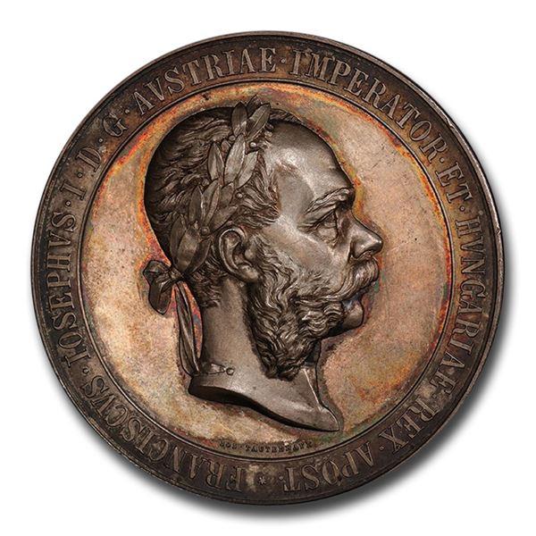 1891 Austria Silver Medal Franz Joseph I SP-64 PCGS