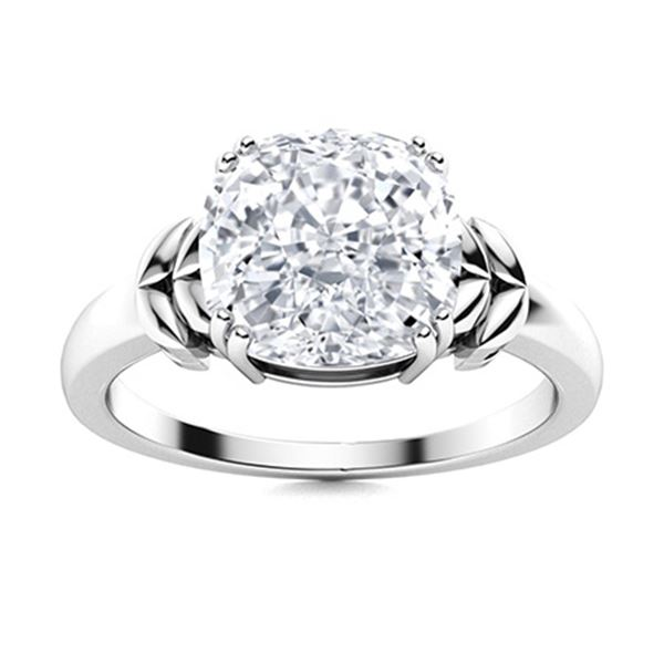 Natural 2.21 CTW Topaz Solitaire Ring 14K White Gold