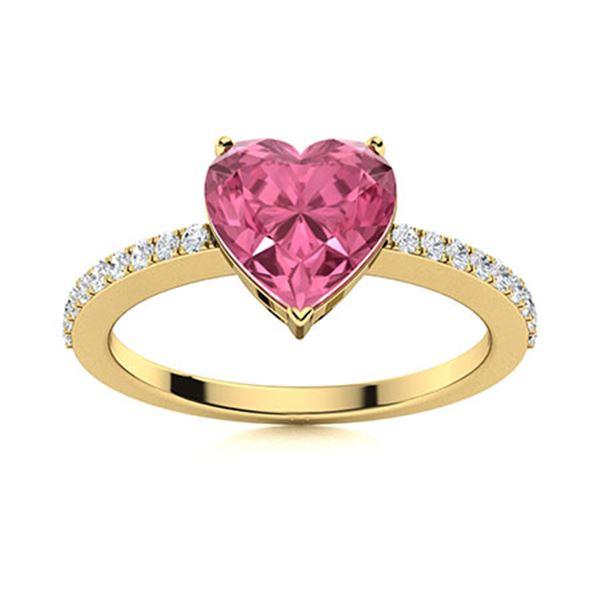 Natural 0.66 CTW Tourmaline & Diamond Engagement Ring 14K Yellow Gold