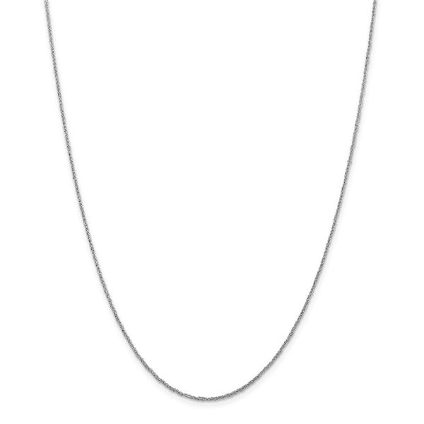 14k White Gold 1.1 mm Ropa Necklace - 18 in.