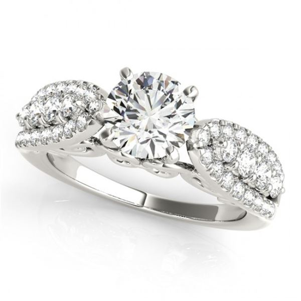 Natural 2 ctw Diamond Solitaire Ring 14k White Gold