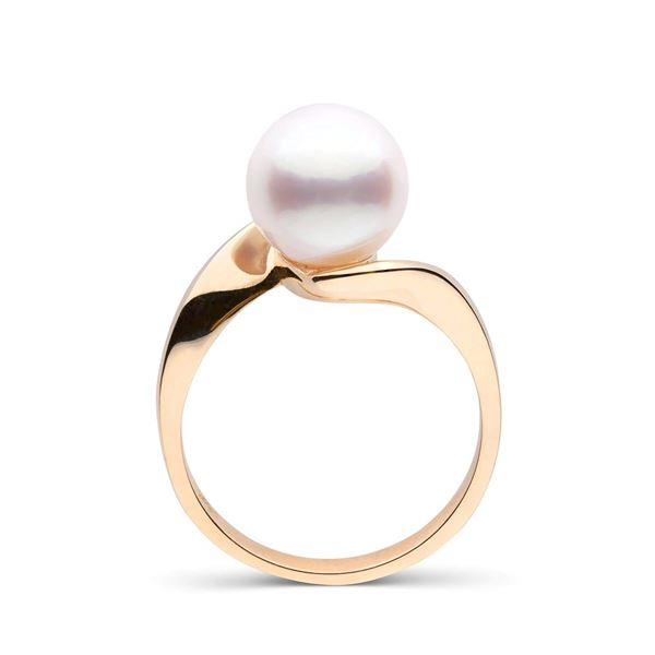 White South Sea Pearl Serenity Solitaire Ring
