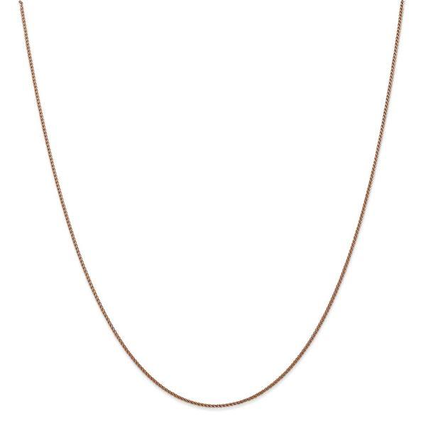 14k Diamond-cut Rose Gold 1.00 mm Spiga Chain Necklace - 16 in.