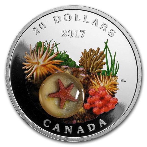 2017 Canada 1 oz Proof Silver $20 Under the Sea: Sea Star