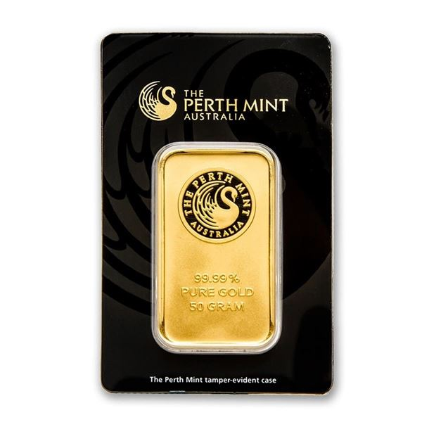 50 gram Gold Bar - The Perth Mint (In Assay)