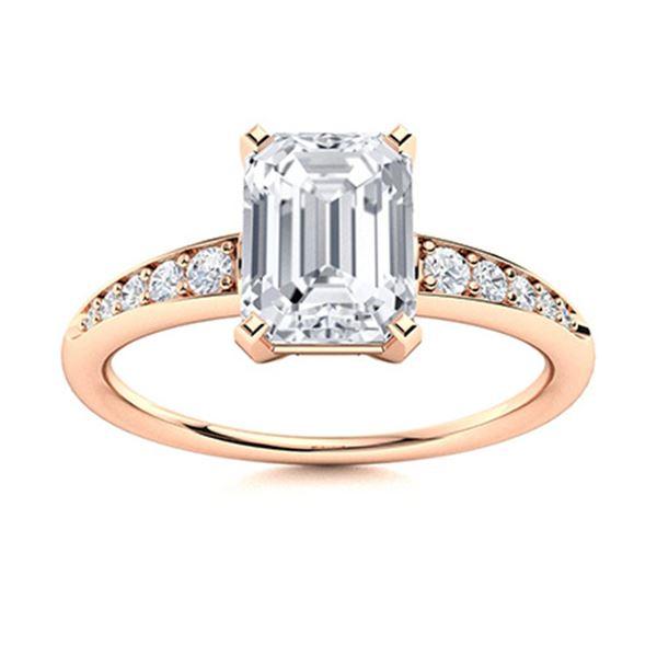 Natural 3.26 CTW Topaz & Diamond Engagement Ring 14K Rose Gold