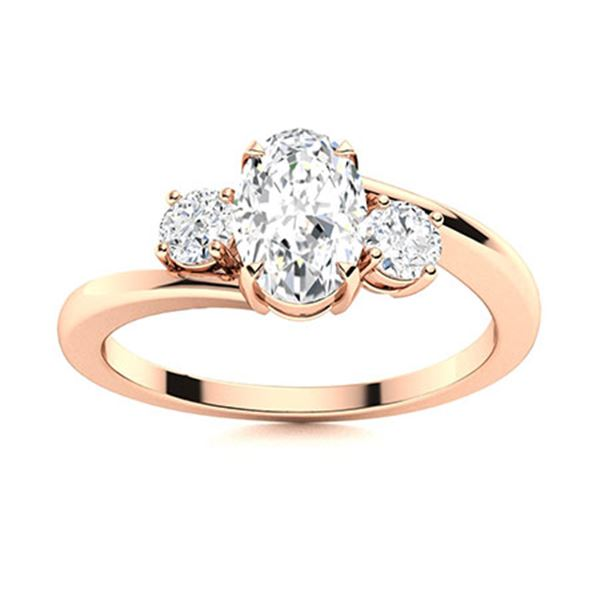 Natural 1.25 CTW Topaz Solitaire Ring 14K Rose Gold