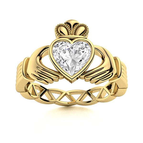 Natural 0.55 CTW Topaz Solitaire Ring 18K Yellow Gold