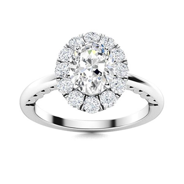 Natural 1.19 CTW Diamond Solitaire Ring 18K White Gold