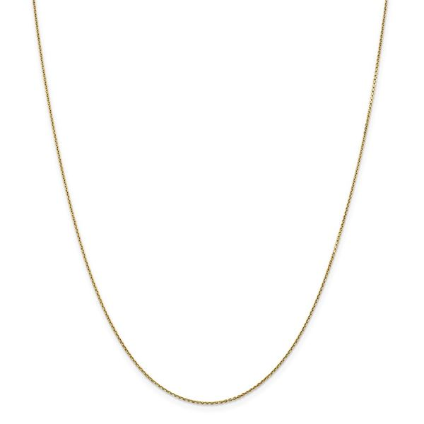 14k Gold .90 mm Diamond-cut Cable Chain Necklace - 18 in.