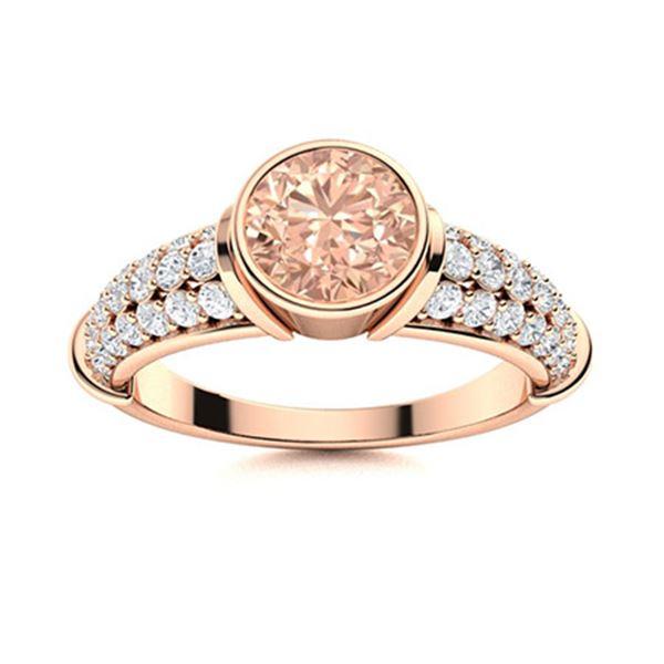 Natural 1.16 CTW Morganite & Diamond Engagement Ring 14K Rose Gold
