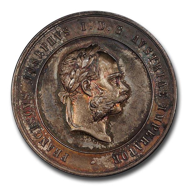 Austria AR Medal Franz Joseph I Late 19th Century SP-64+ PCGS