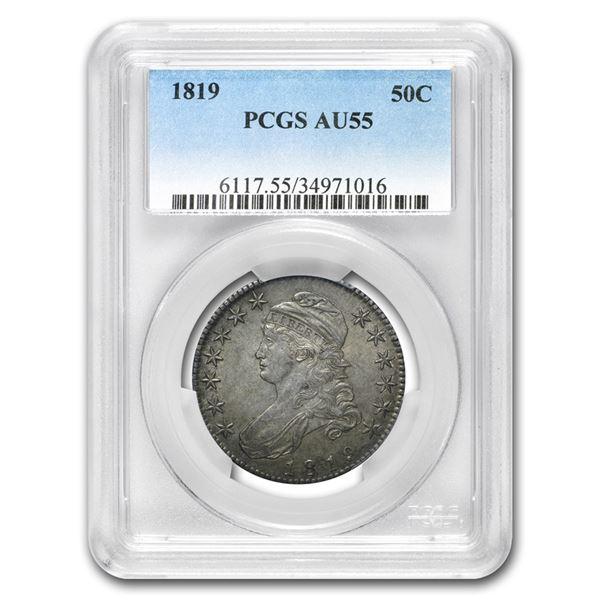 1819 Capped Bust Half Dollar AU-55 PCGS