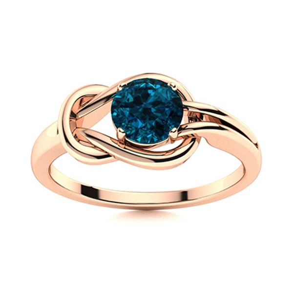 Natural 0.71 CTW Topaz Solitaire Ring 14K Rose Gold