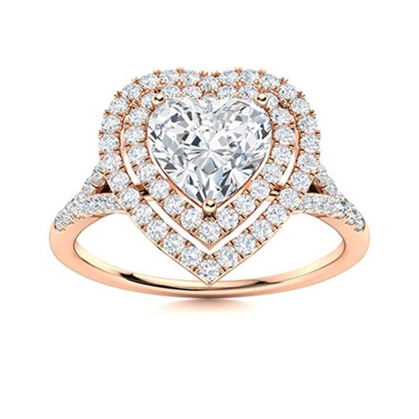 Natural 1.28 CTW Topaz & Diamond Engagement Ring 18K Rose Gold