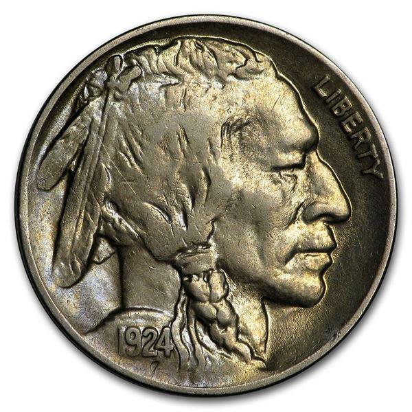 1924-D Buffalo Nickel AU
