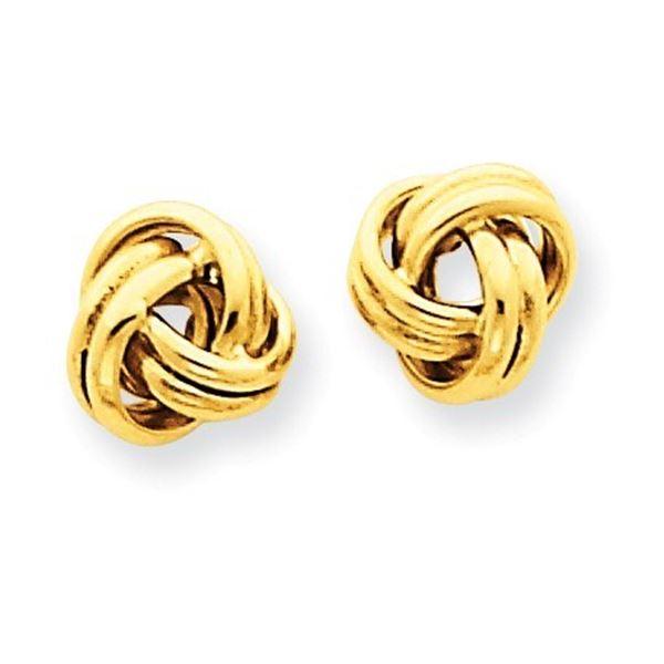 14k Gold Love Knot Post Earrings