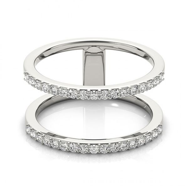 Natural 0.90 ctw Diamond Fashion Ring 14k White Gold