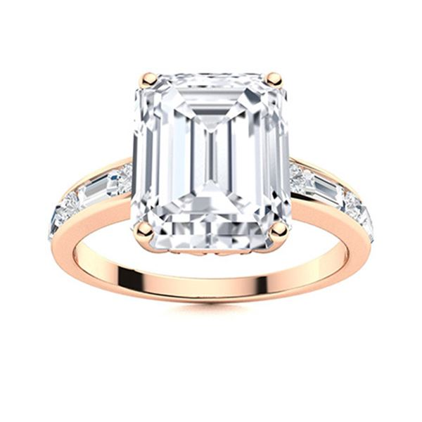 Natural 3.95 CTW Topaz & Diamond Engagement Ring 14K Rose Gold