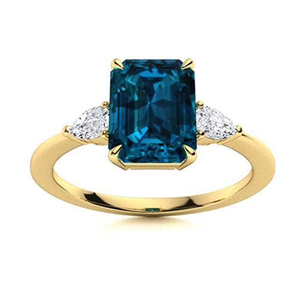 Natural 3.82 CTW Topaz & Diamond  Engagement Ring 14K Yellow Gold