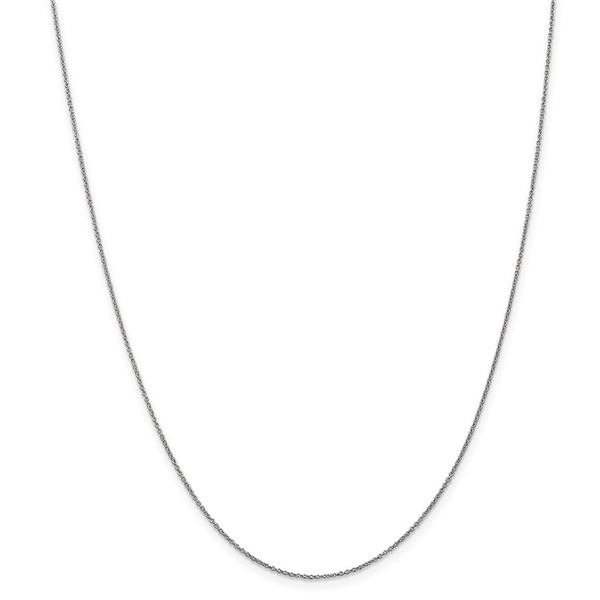 14k White Gold .9 mm Cable Chain - 22 in.